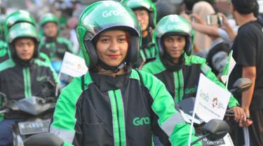 Driver Grab Bike Mengaku Bangga Jadi Bagian Kirab Obor Asian Games 2018