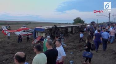 Kecelakaan kereta api terjadi di Turki. Sebanyak 24 orang tewas dalam insiden ini.