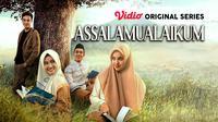 Anggika Bolsterli, Wafda Saifan, Rachel Amanda, dan Ibrahim Risyad dalam Vidio original series Assalamualaikum. (Dok. Vidio)