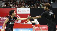 Ganda campuran baru Indonesia, Tontowi Ahmad/Apriyani Rahayu, menjalani laga debut debut sebagai pasangan pada kualifikasi Indonesia Masters 2020, di Istora Senayan, Jakarta, Selasa (14/1/2020). (PBSI)