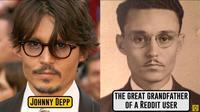 (Foto: Brightside/Youtube) Akun Reddit Michael Johnstone membandingkan foto kakek buyutnya dnegan aktor Johnny Depp dan ternyata keduanya hampir mirip.