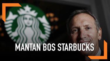 Mantan petinggi Starbucks Howard Schultz mengatakan dirinya akan mencalonkan diri menjadi Presiden AS pada Pilpres 2020.