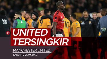 Berita video Manchester United kalah 1-2 dari Wolves (Wolverhampton Wanderers) pada perempat final Piala FA 2018-2019, Sabtu (16/3/2019).