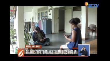 Ibu kos korban pembunuhan siswi SMK, Adriana Yubelia Noven, sempat melihat pelaku mondar mandir di depan rumah kos sehari sebelum penusukan.