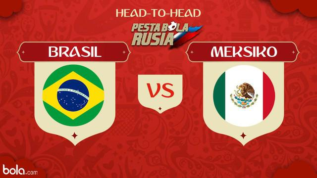 Berita video head-to-head Piala Dunia Rusia 2018: Brasil vs Meksiko.