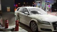 Kebakaran mobil (Facebook/Info Roadblock JPJ)
