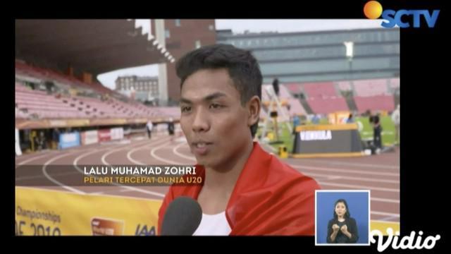 Lalu Muhammad Zohri berhasil harumkan nama bangsa menjadi manusia tercepat se-Asia Tenggara.
