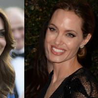 Kate Middleton dan Anagelina Jolie kabarnya berteman dekat. (AFP/Eddie Mulholland/Robyn Beck)