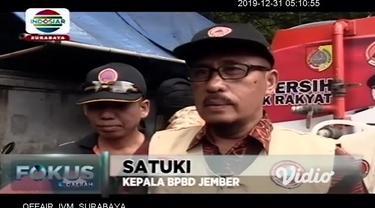 Dinas Kesehatan (Dinkes) Kabupaten Jember dan Badan Penanggulangan Bencana Daerah (BPBD) Kabupaten Jember melakukan penyuluhan kepada masyarakat tentang penyakit hepatitis A, Sabtu (28/12/2019).