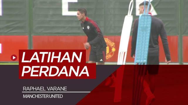 Berita video sesi latihan Raphael Varane bersama Manchester United, selasa waktu setempat (17/8/21)
