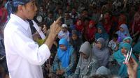 Jokowi di Subang, Jawa Barat. (Herman Zakharia/Liputan6.com)