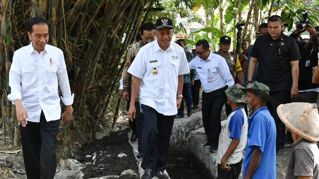 Jokowi Tinjau Pemanfaatan Dana Desa di Sleman