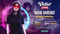 Main Bareng Mindy Sabrina (credit: Vidio).