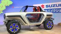 Suzuki e-Survivor, Mobil Listrik Bergaya Futuristik Nan Retro (foto: Rushlane)