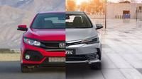 Honda Civic vs Toyota Corolla (Otosia.com)