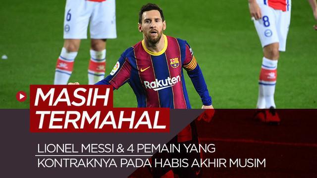Berita motion grafis 5 pemain termahal yang kontraknya habis akhir musim ini, Lionel Masih nomor satu.