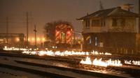 Chicago membakar rel kereta di tengah cuaca dingin ekstrem. (Metra)