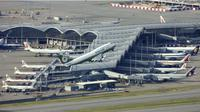 Ilustrasi Bandara Internasional Hong Kong, atau HKIA (AP Photo)