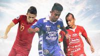 Julukan Unik Pesepak Bola Indonesia: Egy Maulana Vikri, Febri Hariyadi, Riko Simanjuntak (Bola.com/Adreanus Titus)