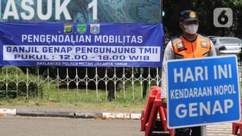 Aturan Ganjil Genap Berlaku, Polisi Putar Balik Kendaraan di TMII