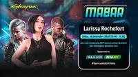 Main bareng Cyberpunk 2077 bersama Larissa Rochefort, Sabtu (26/12/2020) pukul 19.00 WIB dapat disaksikan melalui platform streaming Vidio, laman Bola.com, dan Bola.net. (Dok. Vidio_)