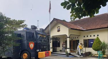 Sebanyak 21 polisi di Polsek Cilongok, Banyumas, terpapar Covid-19. (Foto: Liputan6.com/Polresta Banyumas)