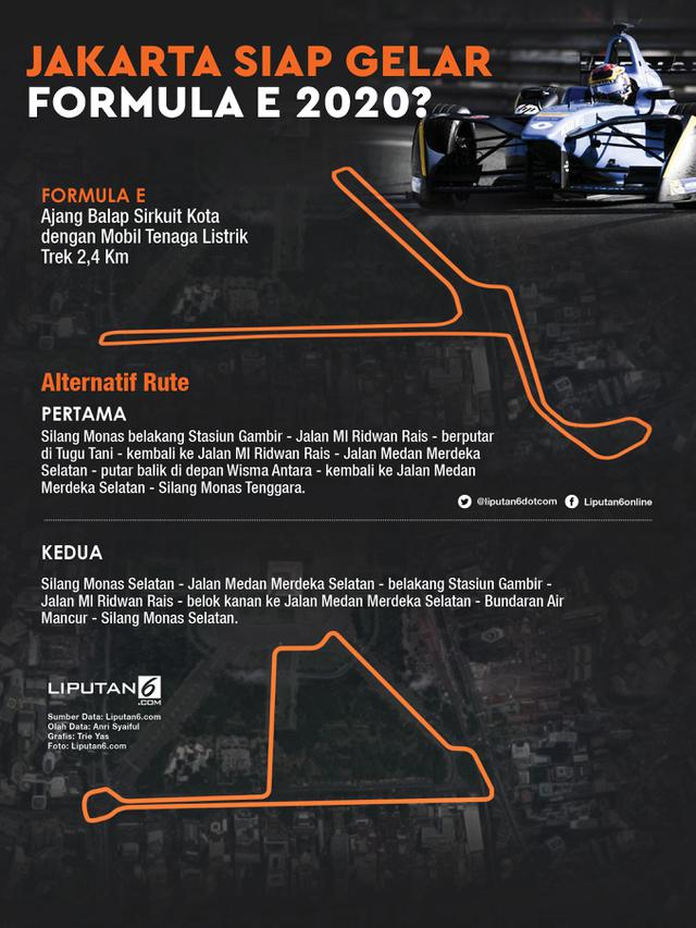 Infografis Jakarta Siap Gelar Formula E 2020?