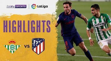 Berita video highlights Atletico Madrid ditahan imbang Real Betis 1-1 dan membuat Liga Spanyol 2020/2021 semakin seru untuk disimak, Senin (12/4/2021) dinihari WIB.