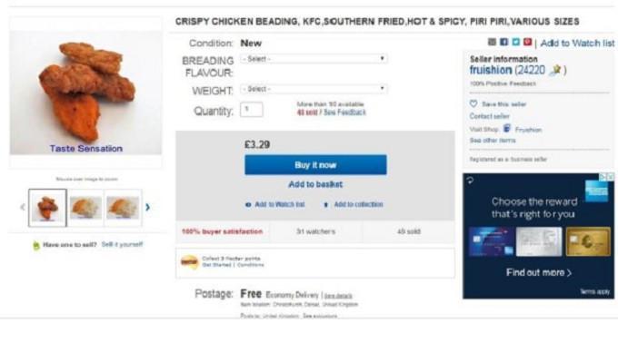 Beredar resep rahasia ayam goreng hot and spicy milik restoran cepat saji KFC di eBay. (screenshot eBay)