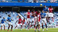 Suasana pertandingan uji coba antara Rangers FC vs Arsenal. (Dok. Twitter/Rangers)