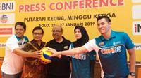 Konferensi pers Proliga 2019 seri ketiga putaran kedua di Solo, Kamis (24/1/2019). (Bola.com/Vincentius Atmaja)