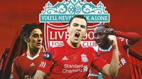 Liverpool - Alberto Aquilani, Stewart Downing, Naby Keita (Bola.com/Adreanus Titus)