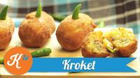 Sajikan snack sore bergizi dan lezat untuk keluarga, dengan menu kroket kentang isi daging. (Foto: Kokiku Tv)