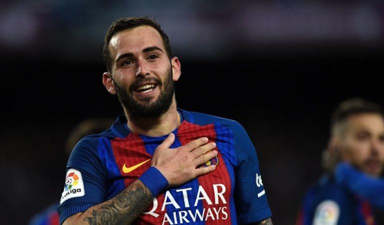 Aleix Vidal ditarik kembali oleh Barcelona untuk mengisi posisi yang ditinggalkan Dani Alves. (AFP/Luis Gene)