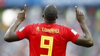 3. Romelu Lukaku (Belgia) - 2 Gol. (AP/Matthias Schrader)