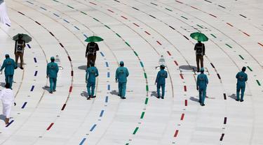 6 Foto Ibadah Haji 2021 di Masa Pandemi Covid-19, Ketat Terapkan Protokol Kesehatan