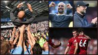 Manchester City memenangi persaingan dengan Liverpool dalam merebut gelar Premier League 2018-2019. (Foto: AFP)