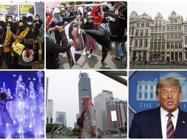 Sejumlah peristiwa menarik terjadi dalam sepekan terakhir, mulai dari keberangkatan jemaah umrah Indonesia hingga protes hasil Pilpres AS.