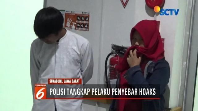Dianggap meresahkan, polisi tangkap penyebar hoaks atau kabar bohong soal penculikan anak di Sukabumi, Jawa Barat, yang kini tengah viral di-share di media sosial.