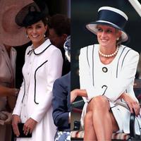 Simak gaya Kate Middleton yang mengikuti gaya Putri Diana dengan busana putih (Foto: instagram/spletnik_ru)