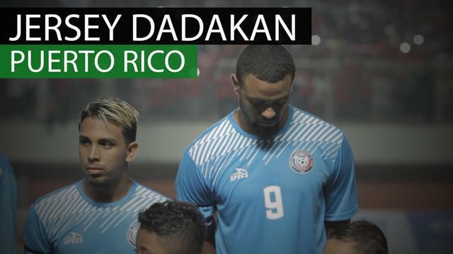 Berita video bentuk jersey dadakan tim Puerto Rico saat menghadapi Timnas Indonesia di Stadion Maguwoharjo, Sleman, Selasa (13/6/2017).