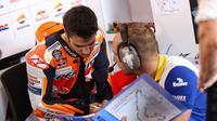 Pembalap Repsol Honda, Dani Pedrosa, dinyatakan fit dan mendapat lampu hijau untuk membalap pada MotoGP Amerika Serikat. (MotoGP.com)