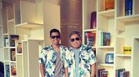 Kenangan Indra bersama almarhum Adiguna Sutowo (Instagram @maulanaindraguna)