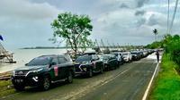 Komunitas Toyota Fortuner yang tergabung dalam Toyota Fortuner Club of Indonesia (ID42NER) akhirnya melakukan perjalanan berupa touring perdana di awal 2018, dengan tujuan Tanjung Lesung, Banten.(Istimewa)