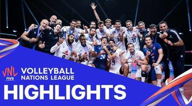 Berita Video, Grand Final Volleyball Nations League Antara Prancis Vs Slovenia (3-0) pada Minggu (27/6/2021)