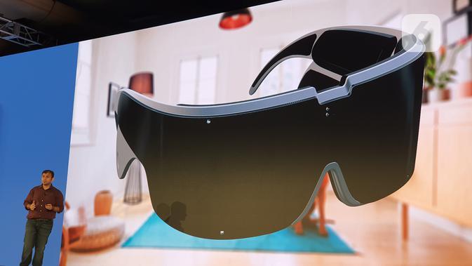 Model kacamata XR yang dikembangkan Qualcomm. (Liputan6.com/ Agustin Setyo W)