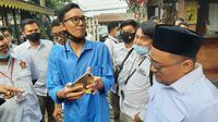 Petugas Bawaslu Tangsel ditengarai diusir dari deklarasi Muhamad-Rahayu Saraswati. (Liputan6.com/Pramita Tristiawati)