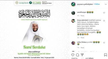Unggahan Yayasan Syekh Ali Jaber. (Instagram/ yayasan.syekhalijaber)