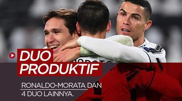 Berita motion grafis duo penyerang paling produktif di Eropa. Cristiano Ronaldo-Alvaro Morata paling buncit.