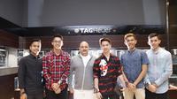 Anthony Sinisuka Ginting, Jonatan Christie, Irwan Danny Mussry, Kevin Sanjaya, Fajar Alfian, M. Rian Ardianto (Foto: Time International.Dok)